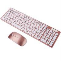 Keyboard sans fil et combinaisons de souris Slim 2.4GHz claviers 104 clés avec récepteur pour bonbons de bureau couleur couleur
