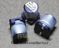 100PCS 47uF 6.3V 5x5mm 6.3V 47uF SMD Capacitor electrolítico de aluminio