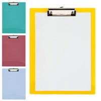 A4 Writing Pad Paper Clip Board Office Clipboard PP Business...