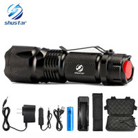 Shustar Tactical Led Taschenlampe Ultra Bright 4000 Lumen XML-T6 L2 Zoomable führte Taschenlampe verwenden Wiederaufladbare 18650 Batterie + Ladegerät