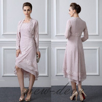 Light Pink Mother Of The Bride Dresses Elegant Hi Lo Formal ...