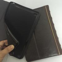 Caso de carteira de couro estilo livro para mesa ipad 2 3 4, ar 5 Air 2 6 7 9.7inch Retro antiga vintage vintage flip bolsa de bolsa de pele capa