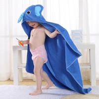 Novo Animal das Crianças Dos Desenhos Animados Absorvente Com Capuz Roupão de Banho Toalha De Algodão Do Bebê 0-6 T Crianças Banho Secagem Rápida Removedor Do Corpo 90 * 90 cm
