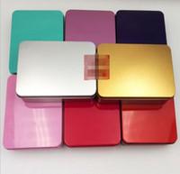 شعبية القصدير مربع تخزين المعادن حالة فارغة المنظم خبأ 7 ألوان 12 سنتيمتر الطول للمال عملة مفاتيح الحلوى يو القرص سماعات هدية مربع