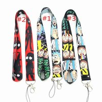 100 unids Rick y Morty Anime CellPhone Lanyard Key Chain lindo ID Badge Llaveros Cosplay Accesorios