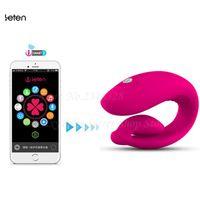 Leten Intelligente APP Bluetooth Vibratori, Telecomando Wireless Super Strong Clitoride G-spot Vibrador Giocattoli Del Sesso Per La Donna S18101905