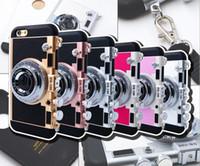 Роскошный 3D Ретро Камера Телефон Чехол Для Iphone X 6 6 s 7 7 Plus 8 8 Plus Мягкий Силиконовый Чехол С Ремешком Задняя Крышка