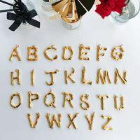 Европа и Америка Hotsale мода женщины ожерелье высокое качество желтого золота покрытием письмо кулон ожерелье для девочек женщин хороший подарок ER-1035