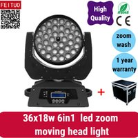 2 luce con il caso prodotto popolare lava luce in movimento 36x18 w led zoom testa mobile, 6in1 rgbwa uv china moving head light