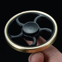 Fingertip Gyro Decompression Fidget spinner Copper Five Leaf...