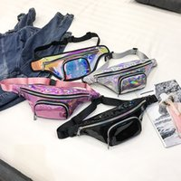 Fashion Sparkle Holographic Fanny Pack Pink Silver Black Las...