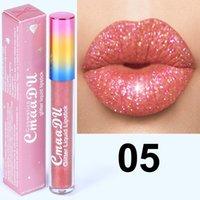 DHL libre! Cmaadu del brillo de Flip brillo de labios de terciopelo mate Lip Tint 6 colores a prueba de agua y dura más tiempo Diamond flash Brillo Labial Líquido