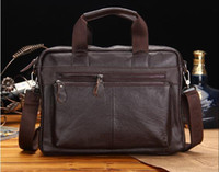 Business briefcase Leather briefcase for men Men' s lapt...