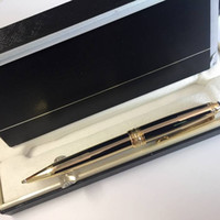 163 series Monte black and gold stripes ballpoint pen luxury...