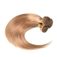 Honey Blonde Straight Human Hair Bundles Double- weft Malaysi...