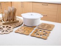 خشبي سميك الكرتون أدوات المائدة المطبخ مكافحة السمط العزل جوفاء طاولة خشبية شريط عداد موقد مضاد للانزلاق وعاء حصيرة