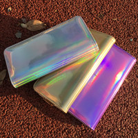 Fashion Design Holographic Long Wallet Shining PU Leather Zi...