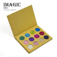 Новый бренд IMAGIC Makeup 12 Colors Glitter Powder Eye Shadow Fashion Makeup Eyeshadow Palette Профессия Comestic DHL free