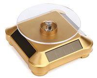 الطاقة الشمسية مجوهرات معرض 360 الدوار الدوارة خاتم رايتس ووتش الهاتف حامل مجوهرات العرض المنظم من الصعب عرض موقف البطارية الشمسية ذات الاستخدام المزدوج