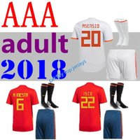 2018 19 Spain adult Jersey ISCO PIQUE SERGIO RAMOS A. INIEST...