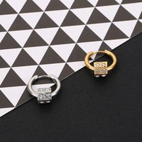South Korea Jewelry Fashion Earrings Lovers Circle Ear Ring ...