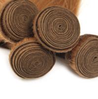 Armadura india del pelo recto de 3 o 4 lotes de miel virgen Rubio Color de extensiones de cabello humano, libre de DHL