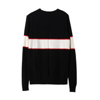 Black luxury brand sweaters for men fashion long sleeve lett...