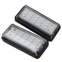 2 قطعة / الوحدة أدى أضواء لوحة ترخيص السيارة 6500K الضوء الأبيض لتويوتا لاند كروزر برادو ريز مارك x لكم لكزس LX470 LX570 GX470