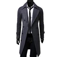 Britischer Stil Fancy Classic Herren Trenchcoat Männer Zweireiher Mantel Masculino Kleidung Lange Dicke Jacken Mäntel Mantel 4XL