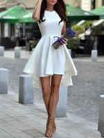 Simple 2019 Hot Sale Jewel White Cocktail Dresses Sleeveless...