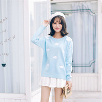 Hot Sale 2017 New Spring Autumn Winter Sweaters Cute Clouds ...