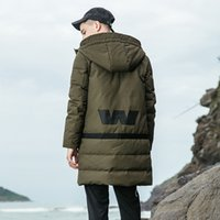 White Duck Down Long Jacket Men Thicken Warm Jacket Autumn W...