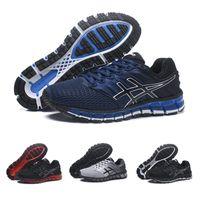 966eea90d297 Asics Gel- Quantum 360 2 II Men Running Shoes Black Blue Top .