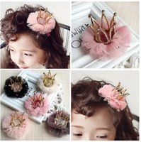 Girls Lace Crown Hairpin Children Flower Crown Sequined Hair...