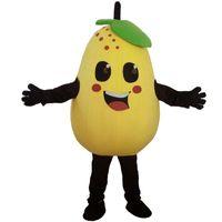 Fabriks direktförsäljning Frukt och grönsaker Päron Mascot Kostym Rollspelning Tecknadkläder Vuxen Storlek Högkvalitativ kläder Gratis frakt