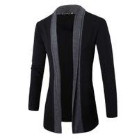 Frühlingsjacke Männer Solide Dick Business Mantel Wolle Langarm Schlank Revers Kragen England Fashion Style Männer Jacke Freizeitkleidung Outwear