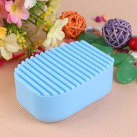 1pc Blue Wash Board Silicone Hand- Held Clothes Washing Brush...