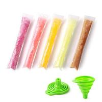 Huni 29x4.9cm DIY Zip-Üst Gogurt için Buz Pop Torbalar, Buz Candy veya Freeze Pops ile Buz Popsicle Kalıp Çanta