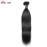 ishow人間の髪の卸売8A未処理のブラジルの髪ペルーのマレーシアの体の真っ直ぐな緩い深海巻き巻き