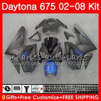 Body For Triumph Daytona 675 02 03 04 05 06 07 08 Daytona675 04HM53 Daytona 675 Flat blue blk 2002 2003 2004 2005 2006 2007 2008 Kit de carenado