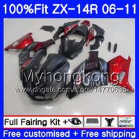 Matt svart injektion för Kawasaki ZX 14R 14 R ZX14R 06 07 08 09 10 11 223HM.9 ZZR1400 ZX-14R 2006 2008 2008 2009 2010 2011 Fairing