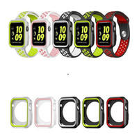Per Iwatch 4 3 Case Dual Color Silicone Frame 40mm 44mm 38mm 42mm Flessibile Soft Rubber Screen Protector per iwatch Apple Watch 4 3 2
