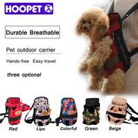 HOOPET Dog carrier moda cor vermelha Travel dog backpack respirável pet sacos de ombro transportador filhote de cachorro de estimação