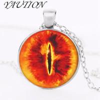 collana di film Lo Hobbit con catena lunga 1 pz / lotto bronzo argento ciondolo in vetro ciondolo in ferro da donna steampunk moda ciondoli regalo