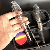 510 kit honeybird Mini vetro tubo micro stabilito NC Kit con 510 tubi di acqua al quarzo Consigli Banger titanio olio riciclatore Rigs bong di vetro