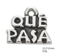 2021 Que Pasa 패션 쥬얼리 단어 매력 좋은 행운과 최고의 소원을위한 팔찌와 목걸이