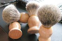 Профессиональный парикмахер волос для бритья Бритва щетки из натурального дерева ручки Барсук волос Бритье кисти для лучших людей подарков Barber инструмент Мужские Уход за кожей лица