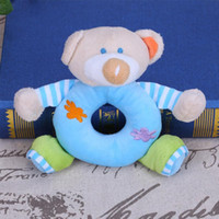 Infant l Animal Plush Rattles Toy Kids Soft Handbells Grasp Training Toys Baby Bell Bear Elephant Deer Hand Rattles Toy