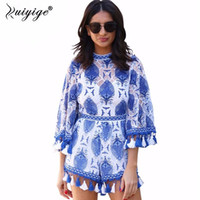 7bf66fabdef Wholesale tassel jumpsuits rompers for sale - Ruiyige Summer Women Rompers  Jumpsuit Lace Boho Playsuits Embroidery