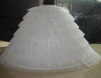 Grande a estrenar Enaguas estupenda blanca hinchada de bola vestido enagua 6 aros de deslizamiento largo crinolina para adultos de la boda / vestido formal